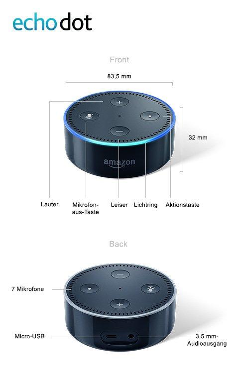 einbindung von alexa amazon echo dot umgesetzt. Black Bedroom Furniture Sets. Home Design Ideas