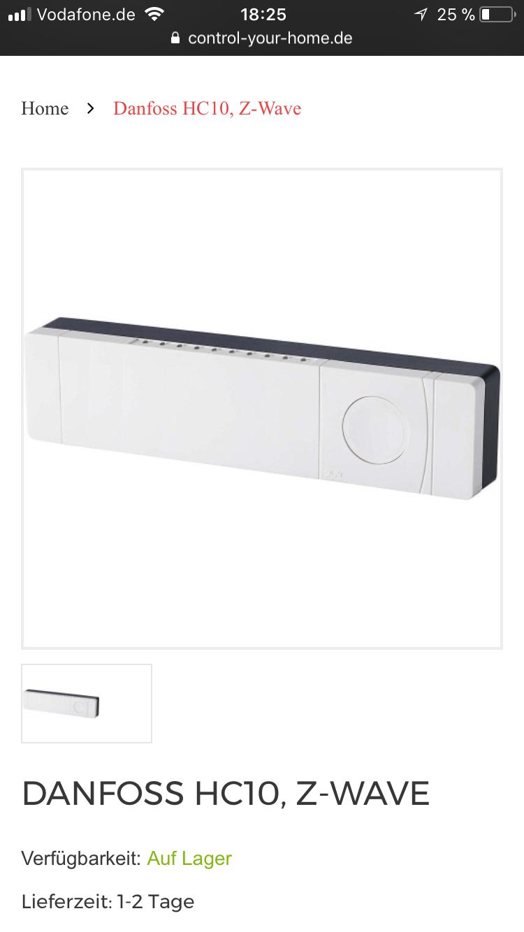 Fußbodenheizung Stellantrieb Danfoss HC10 - Gerät vorschlagen ...