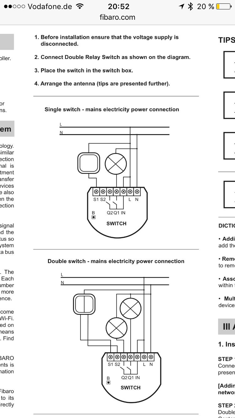Garagentorsteuerung mit Fibaro Single Switch funktioniert nicht ...