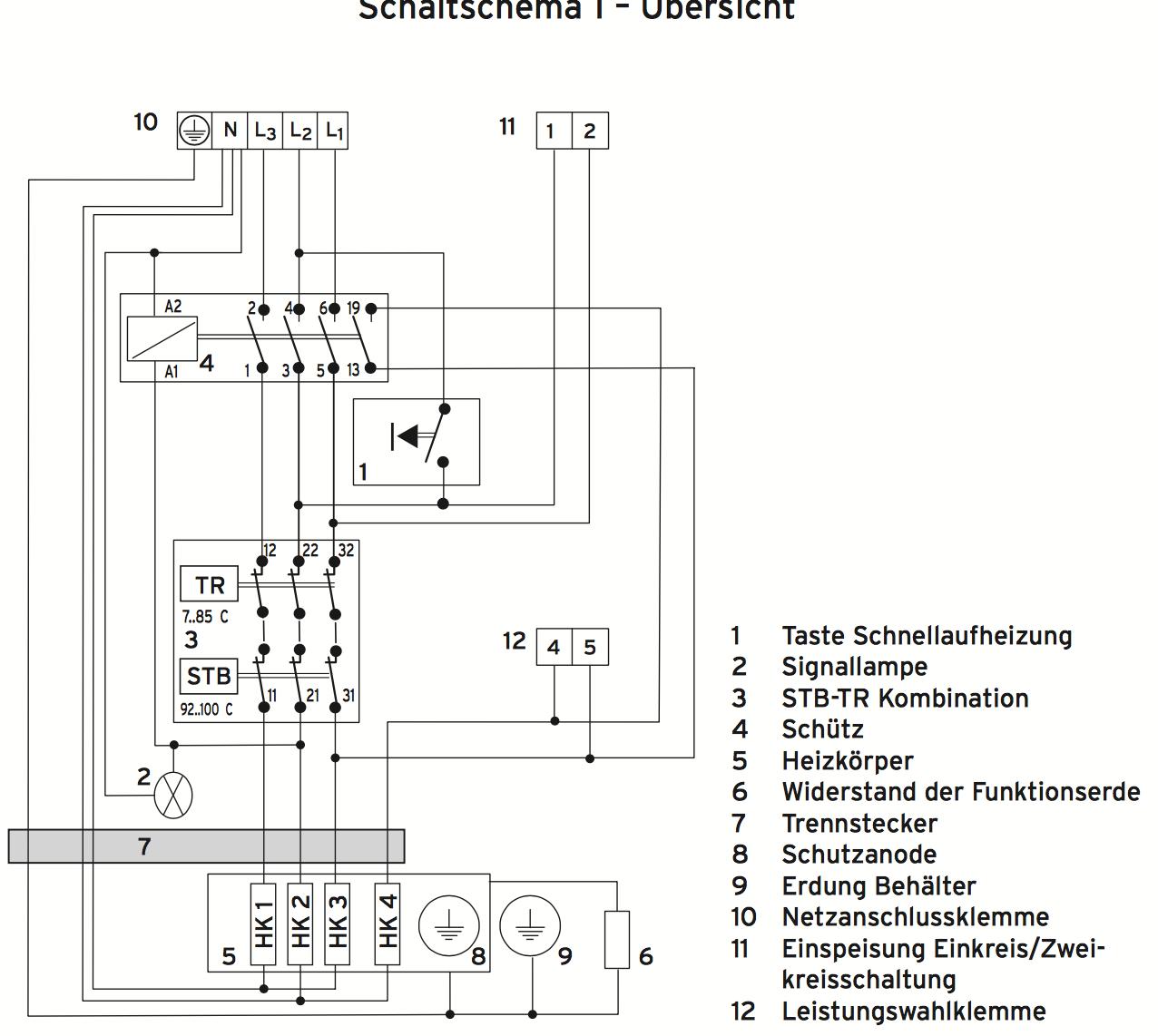 Schön Schaltplan Des Warmwasserspeichers Fotos - Schaltplan Serie ...