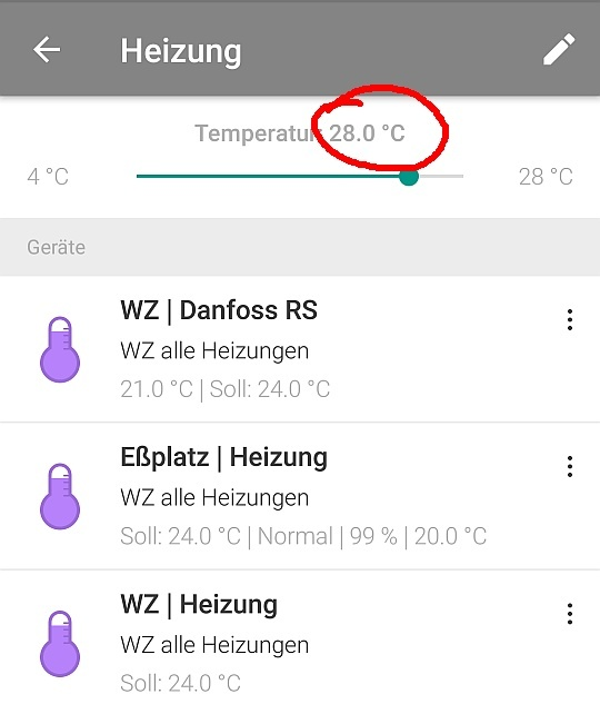 temperatur schieberegler im heizungs widget 4 c zu hoch android app homee community. Black Bedroom Furniture Sets. Home Design Ideas